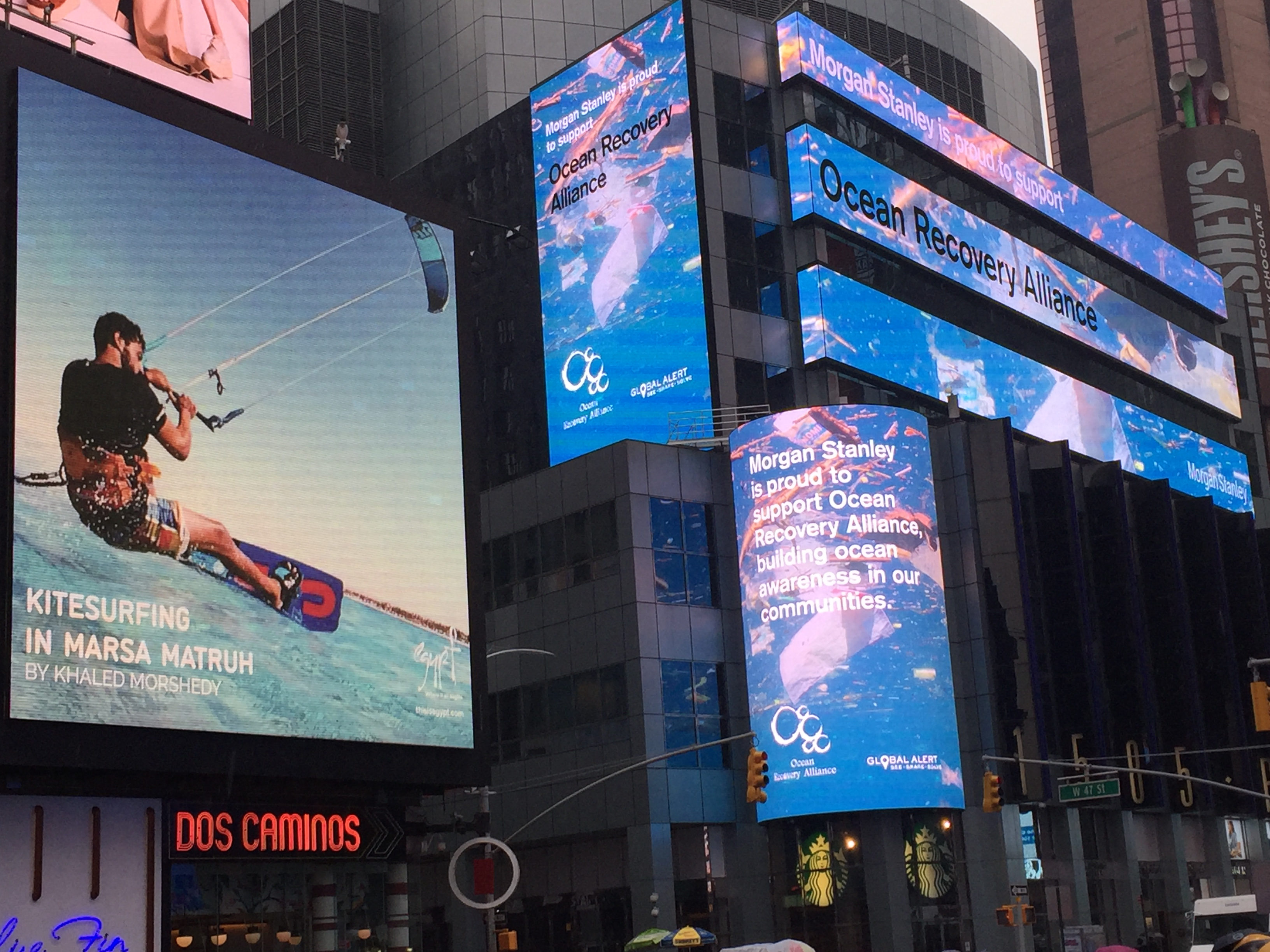 """A """"Global Alert"""" in Times Square for Trash Hotspots in our"""