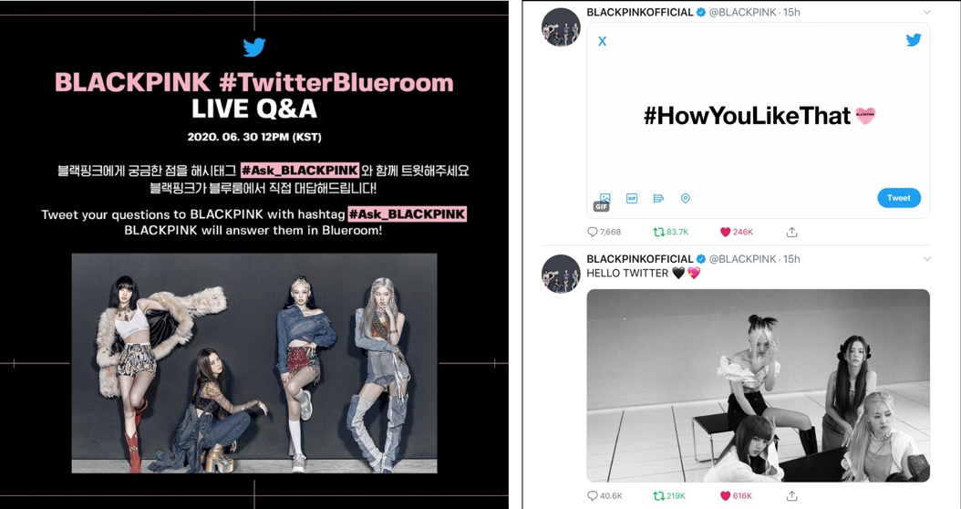 #BLACKPINK LIVE comeback party on #TwitterBlueroom