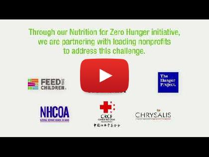 Herbalife Nutrition Commemorates the Inaugural Year of Nutrition for Zero Hunger the Initiative to End World Hunger