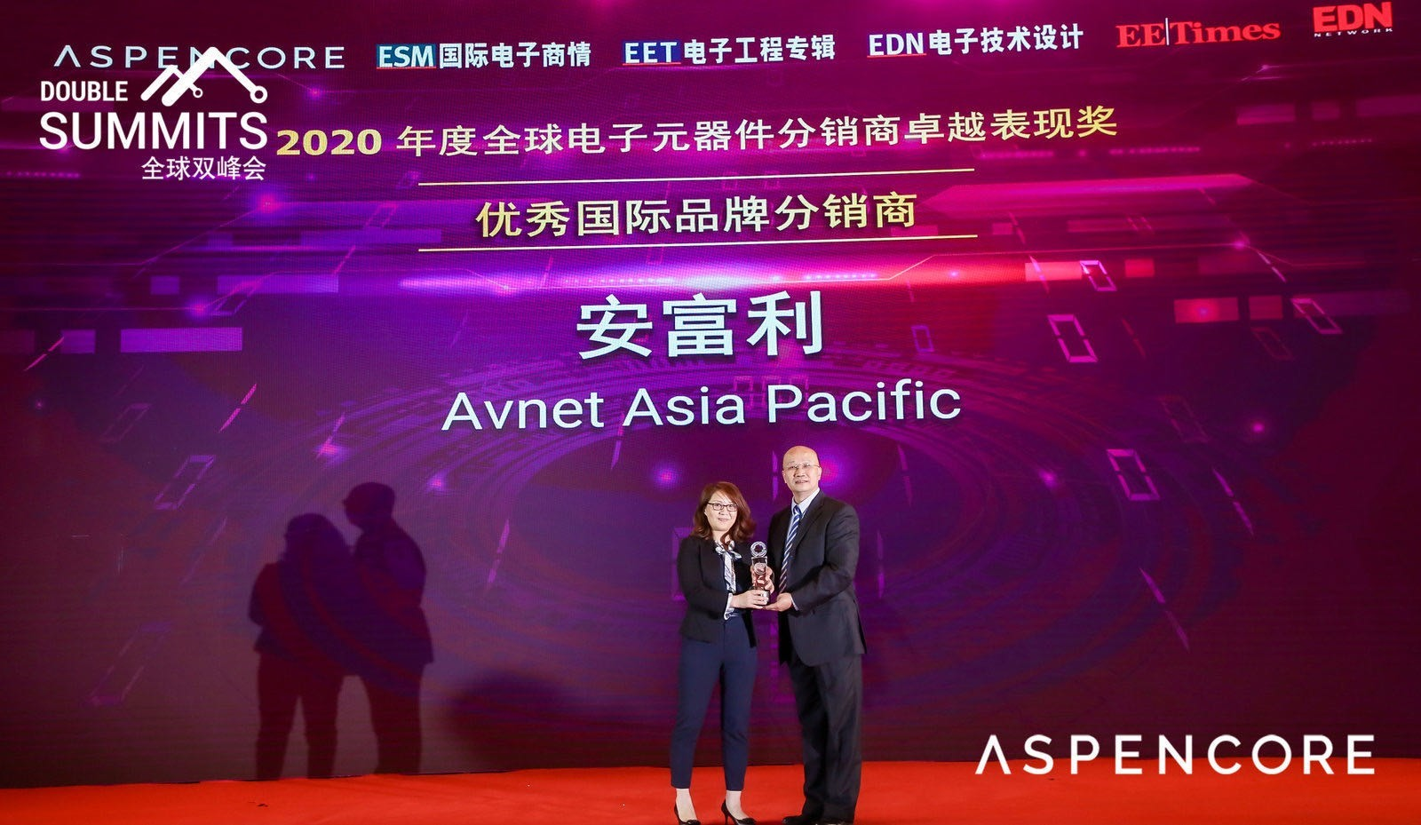 Avnet Asia Pacific Awarded Outstanding International Branded Distributor Once Again