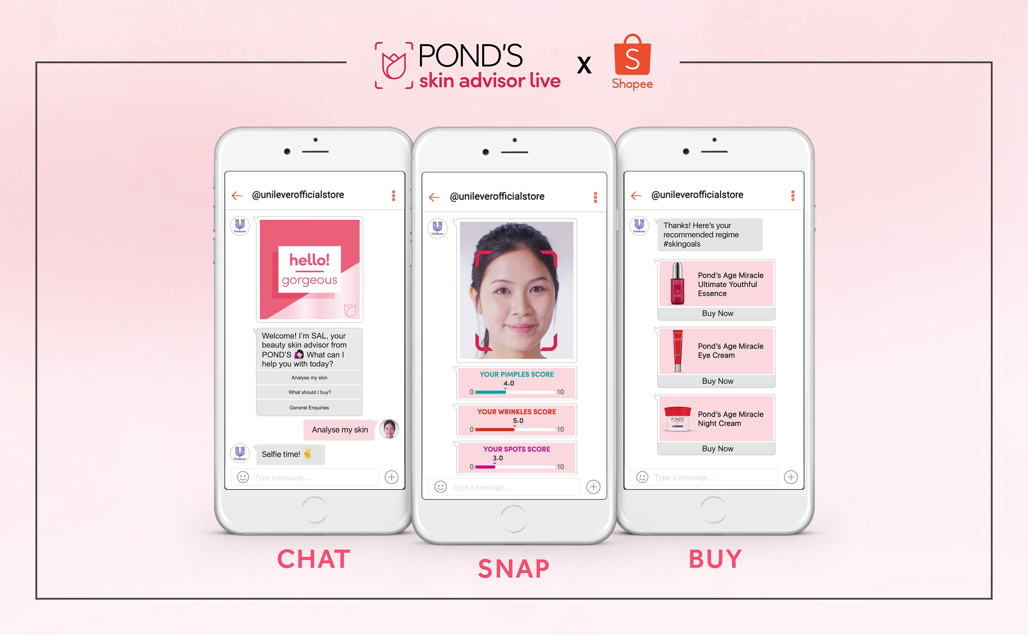 Gặp chuyên viên tư vấn da online của Pond's trên Shopee chỉ với 1 cú chạm!