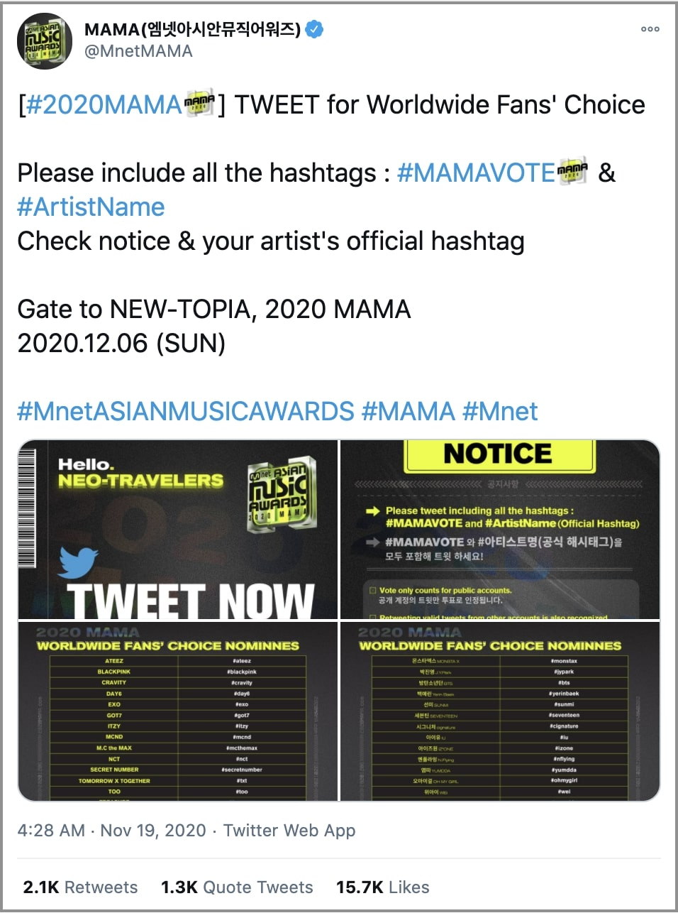 Twitter brings K-pop artists and fans closer than ever with the exclusive '2020 MAMA Stanbot videos