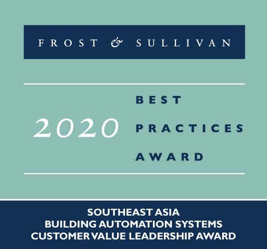 Azbil Receives Frost  Sullivan 2020 Southeast Asia Building Automation Systems Customer Value Leadership Award