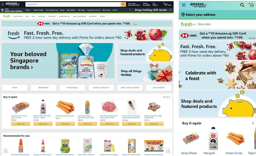 Prime Now Amazons ultrafast grocery delivery service becomes Amazon Fresh in Singapore