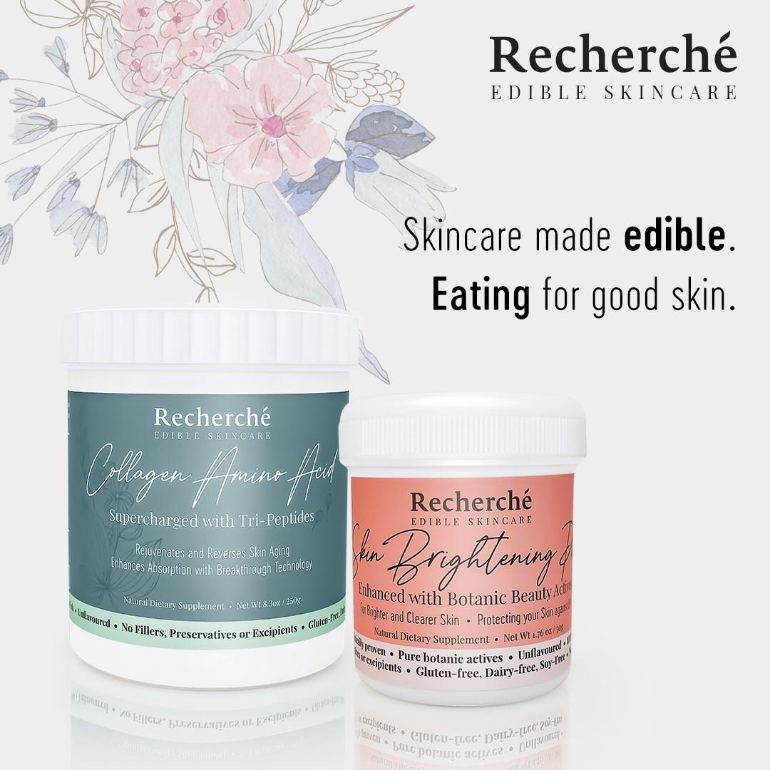 Singapore Cosmeceutical Skincare Brand Recherché Announces The Launch Of Its New Edible Skincare Range