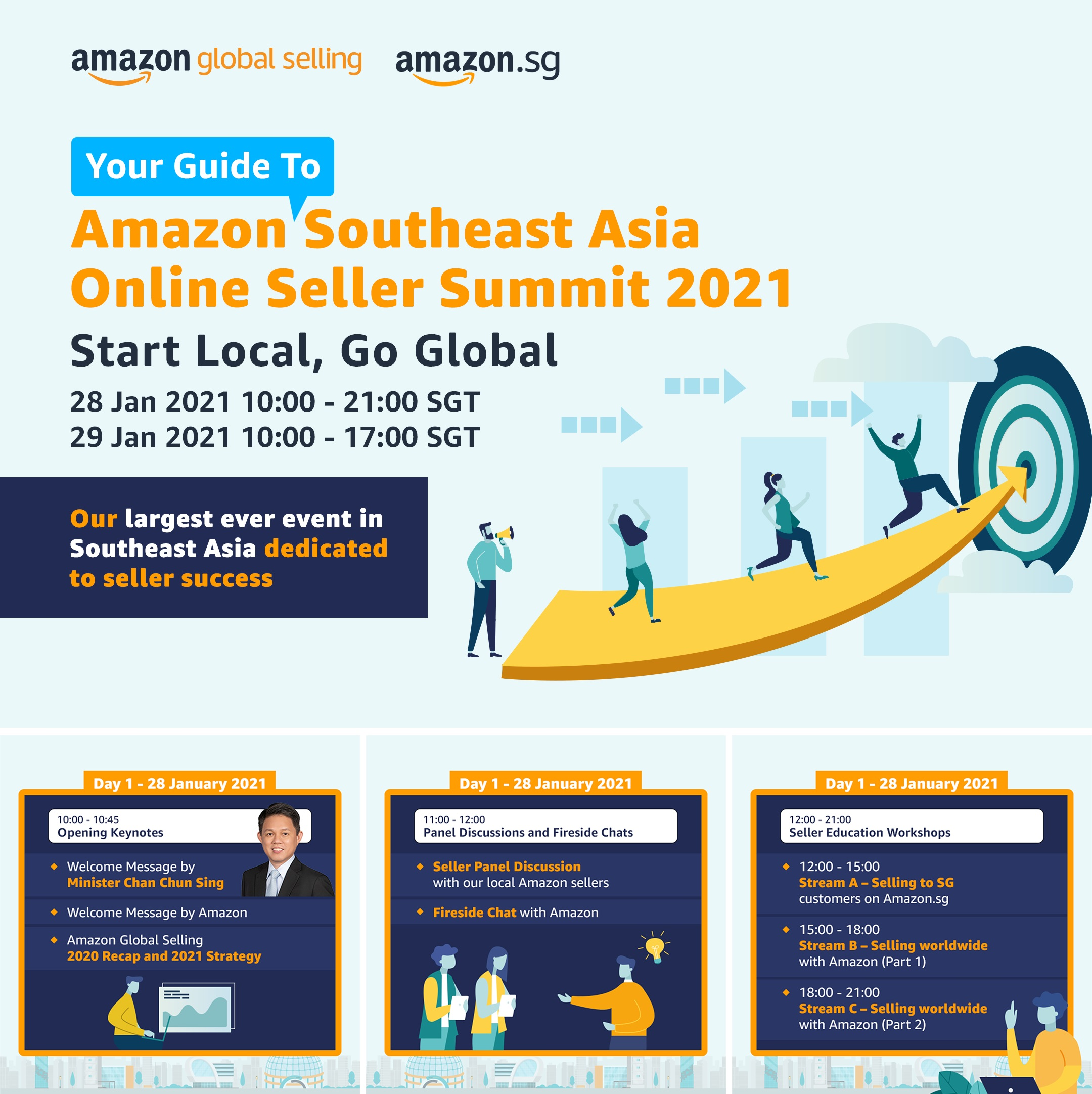 Amazon to host first Southeast Asia Seller Summit for small and medium-sized businesses to Start Local Go Global