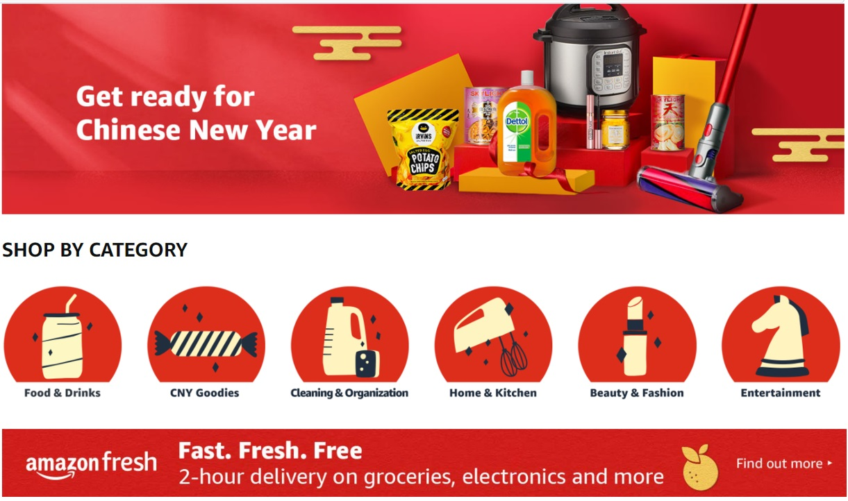 Amazon Singapore Ushers in the Year of the Ox with Bountiful Deals on Amazon.sg and Amazon Fresh