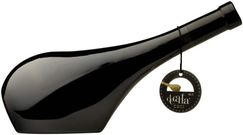 Italian design incorporates flavour with a decanter bottle Barbera dellEmilia IGT