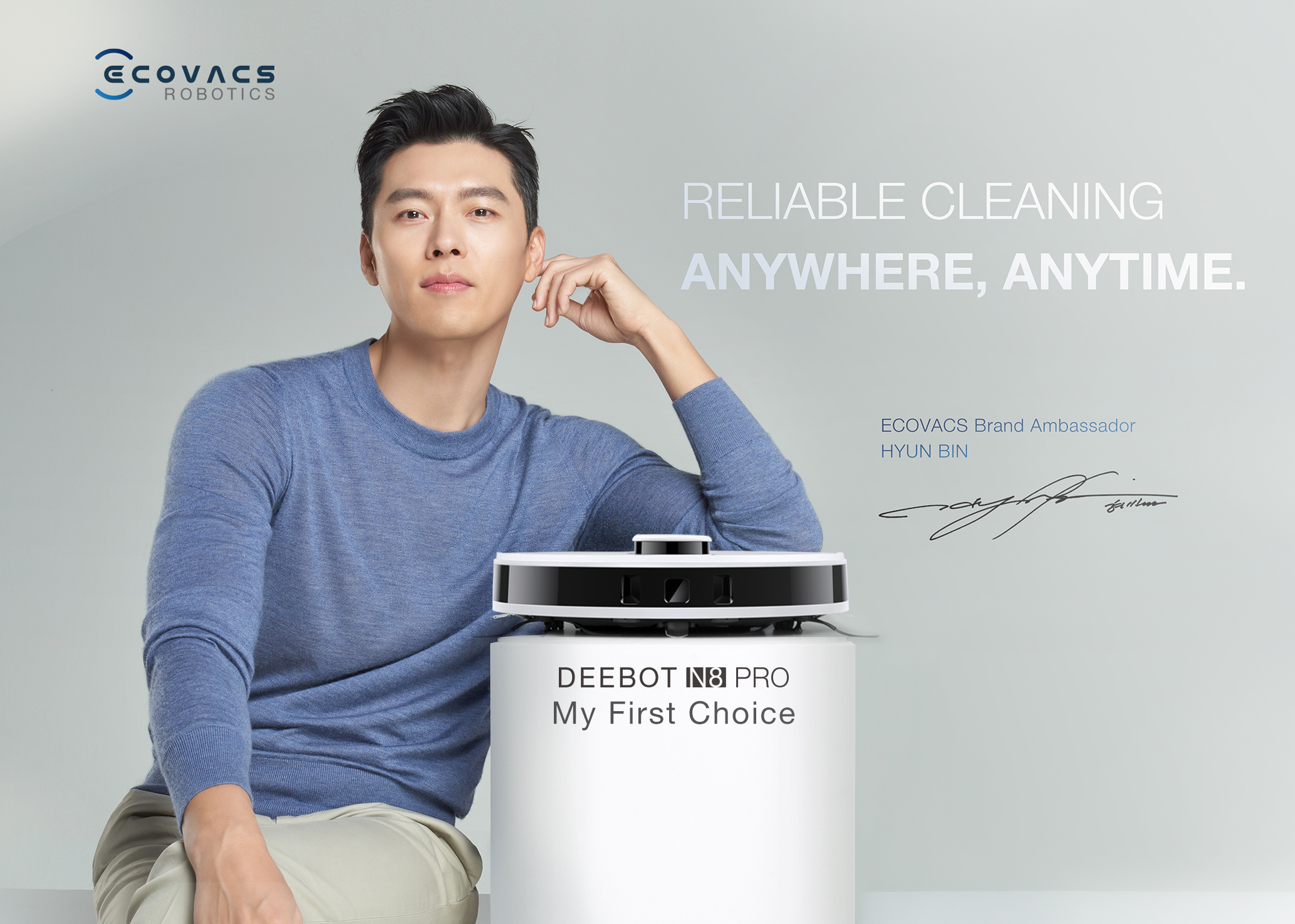 ECOVACS ROBOTICS Appoints Popular Korean Actor Hyun Bin as Brand Ambassador Adding Excitement To Singapore Market