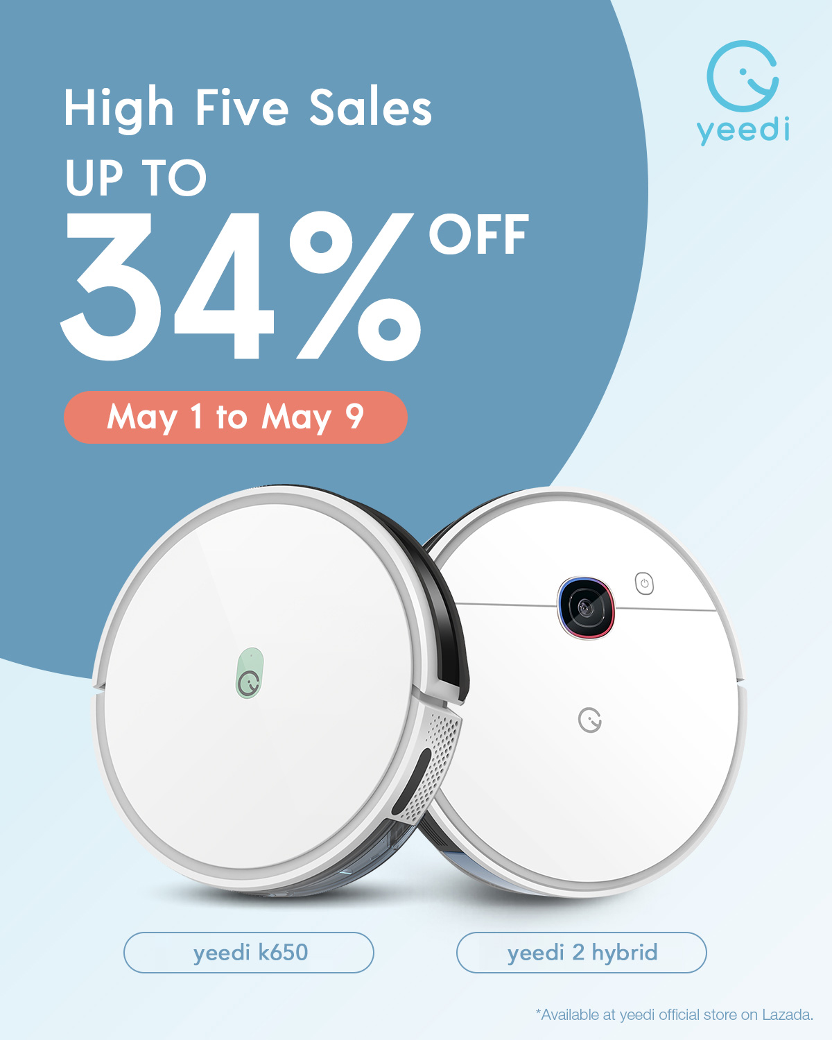yeedi Announces Their 2021 High Five Sales on Lazada with Blow-Out Discounts