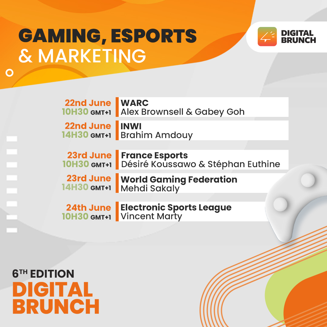 The 6th edition of the Digital Brunch Under the theme: Gaming Esports  Marketing in Middle East and Africa