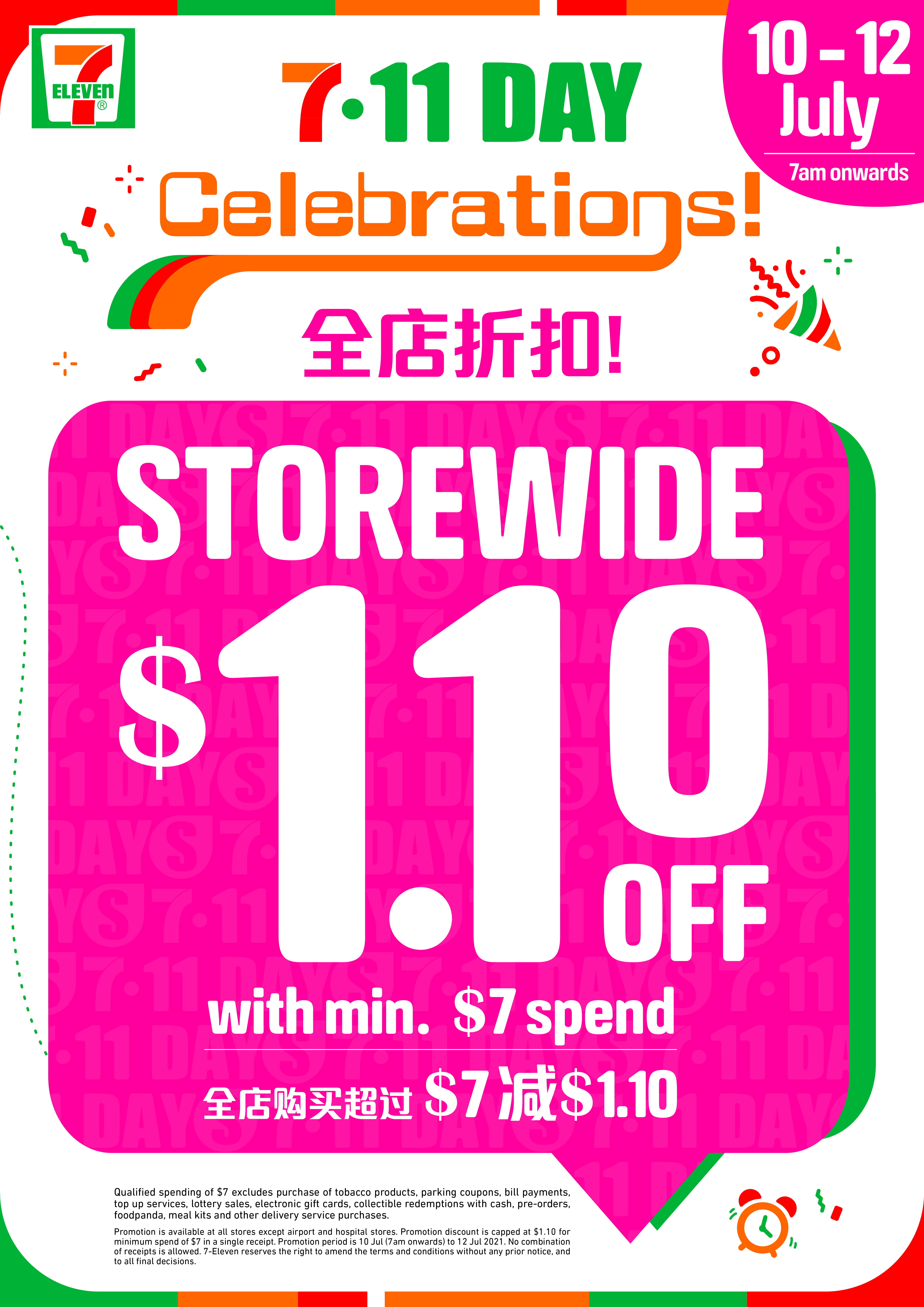 Celebrate 7.11 Day with STOREWIDE PROMOTIONS and new colourful Ready-to-Eat range plus sweet Japanese treats