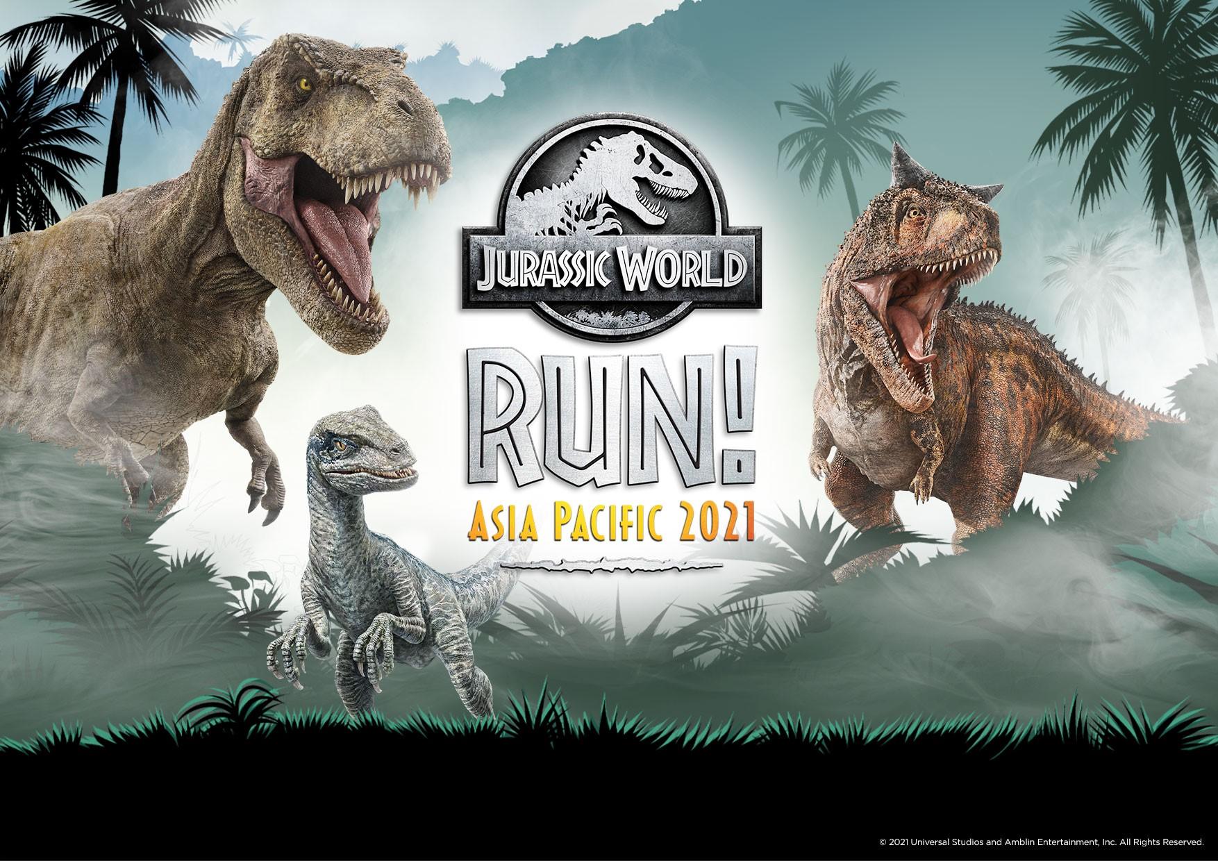 Jurassic World RUN Asia Pacific 2021: Start Running for the First-Ever Jurassic World Virtual Run in Asia Pacific