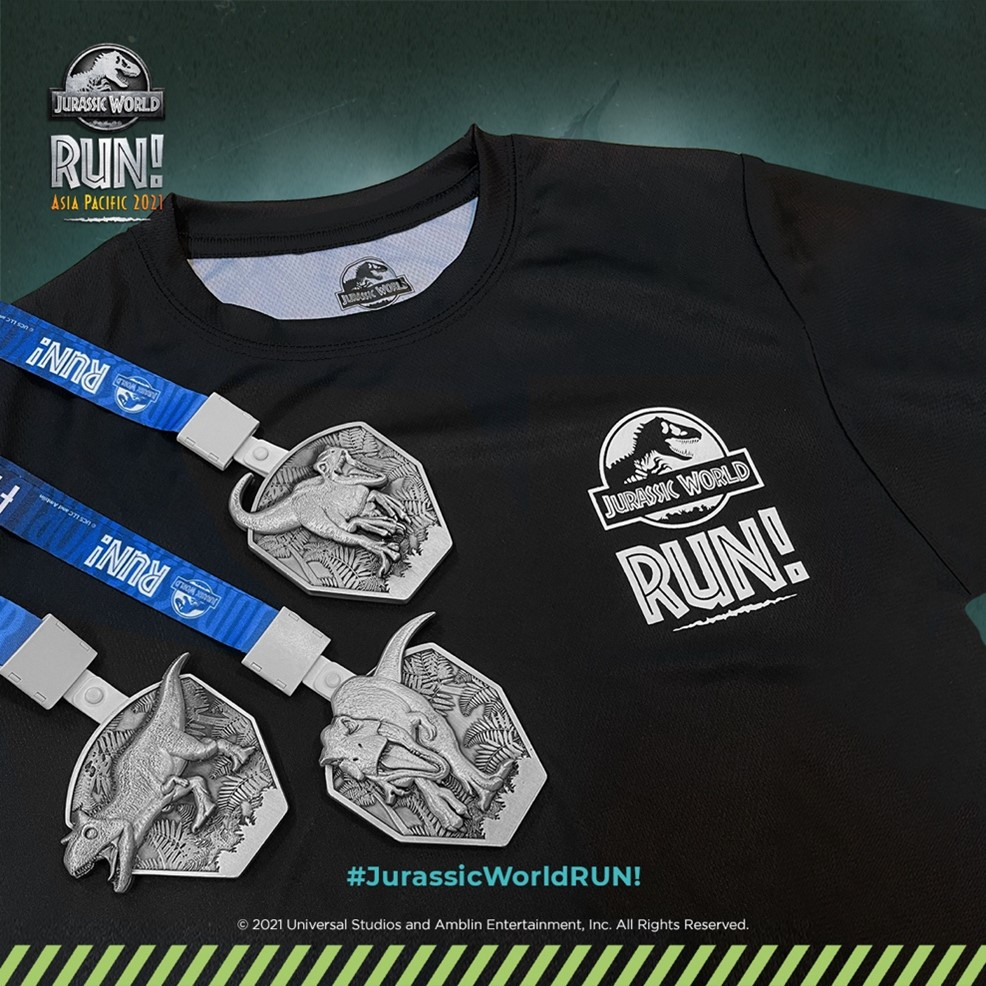 Jurassic World RUN Asia Pacific 2021: Theres more time to escape Isla Nublar and collect all 3 Jurassic World RUN medals