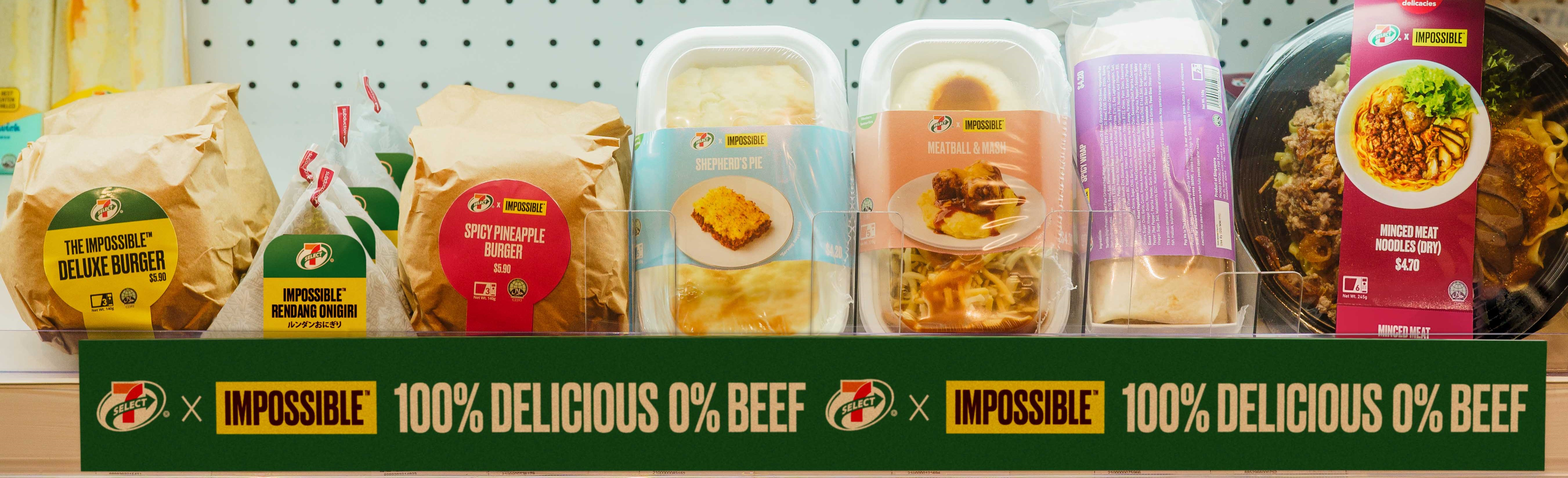 7-Eleven Singapore Launches Range Of Six New Ready-To-Eat  Meals Made With ImpossibleTM Beef