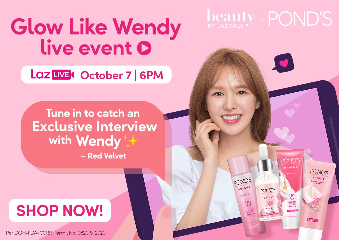 Glow Like Wendy This October with PONDS on Lazada