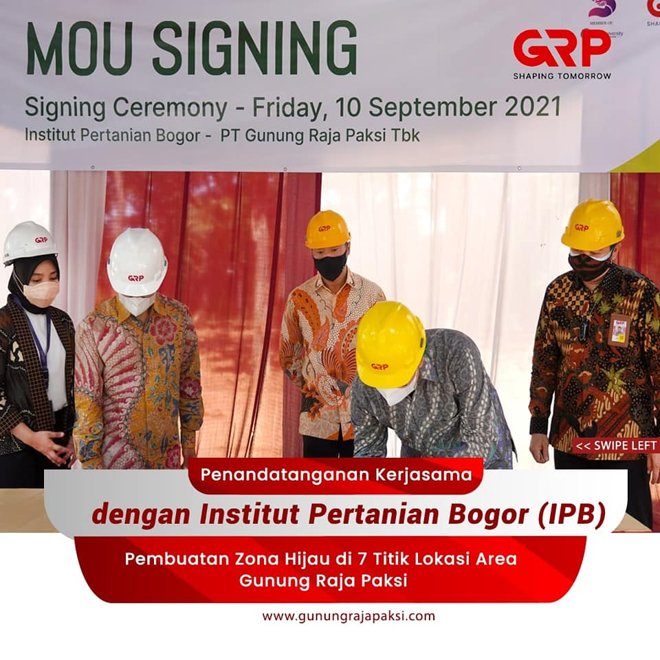 Gunung Raja Paksis Kimin Tanoto Collaborates With Institut Pertanian Bogor To Strengthen ESG Efforts