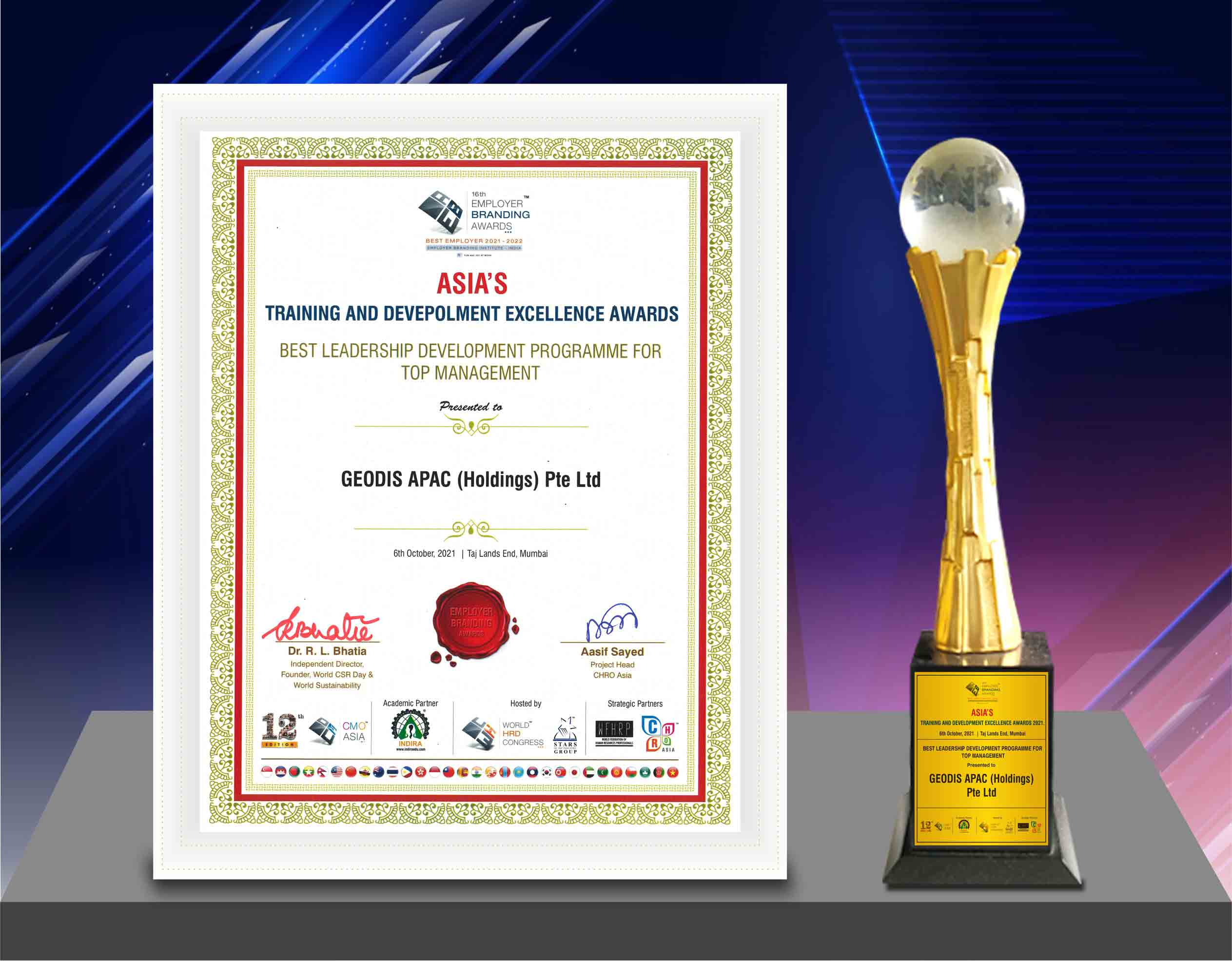 GEODIS Executive Leadership Program recognized as the best Asias Training  Development Excellence Awards 2021