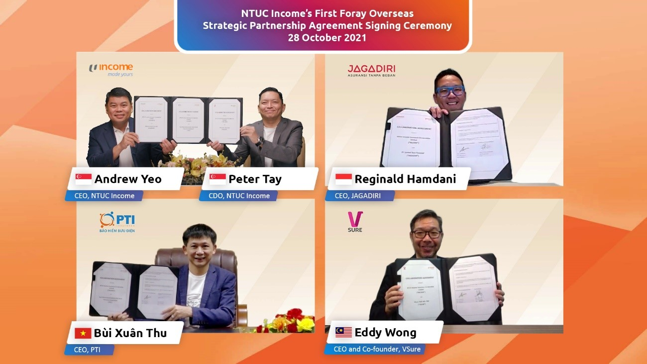 NTUC Income Makes First Foray Overseas Offers Insurance-as-a-Service in Southeast Asia