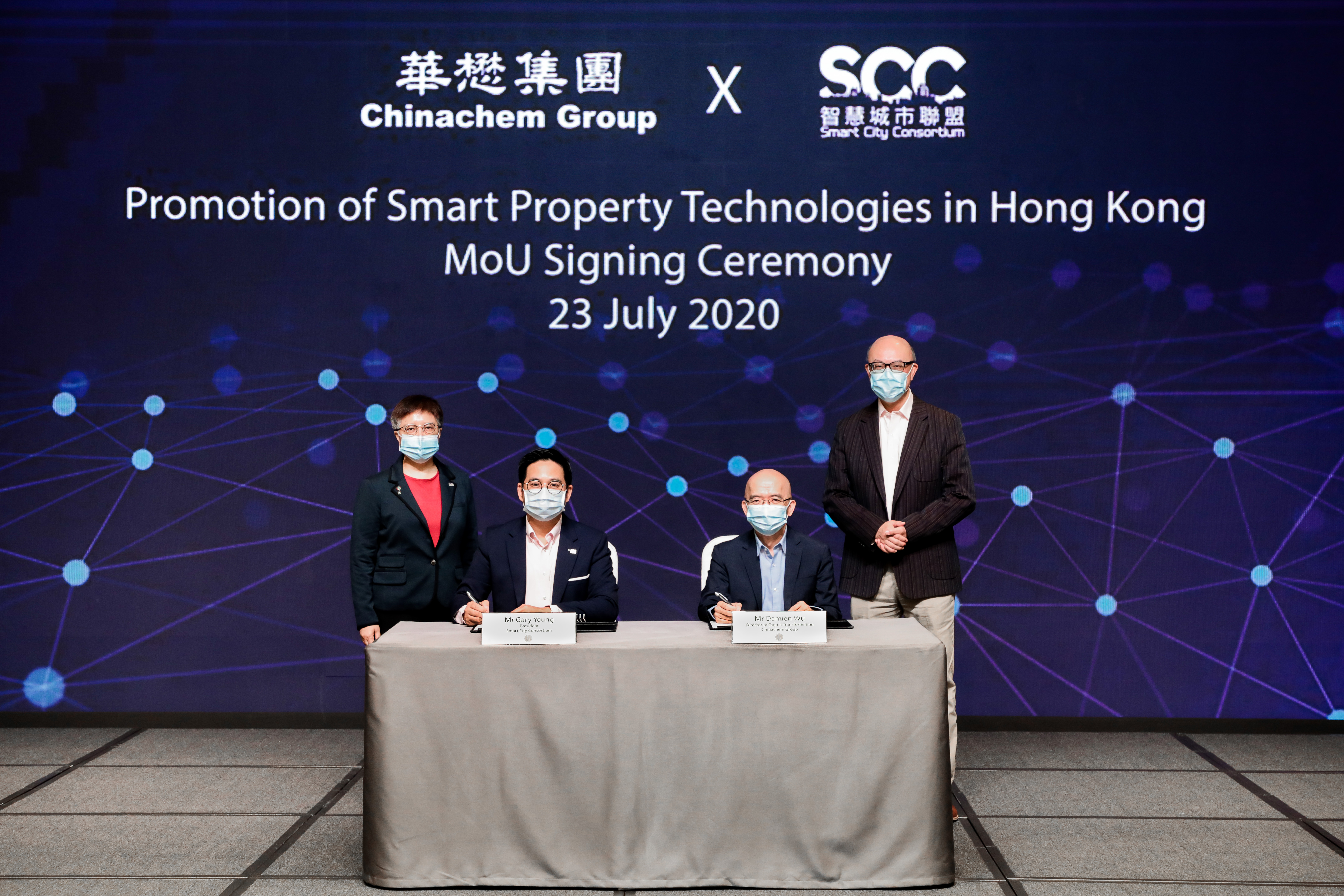 Chinachem and SCC sign MoU to foster smart city development and cybersecurity standards
