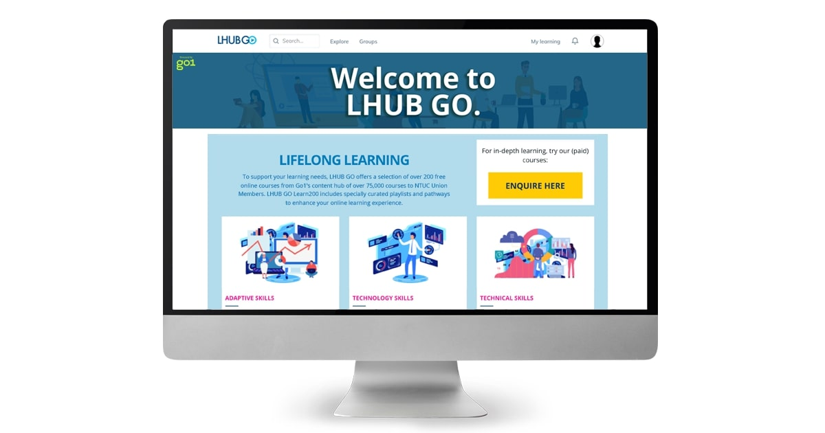NTUC LearningHub Commemorates National Day By Offering An Estimated Total of Over SGD 1 Million Worth of Access To Free Courses On Online Learning Platform LHUB GO