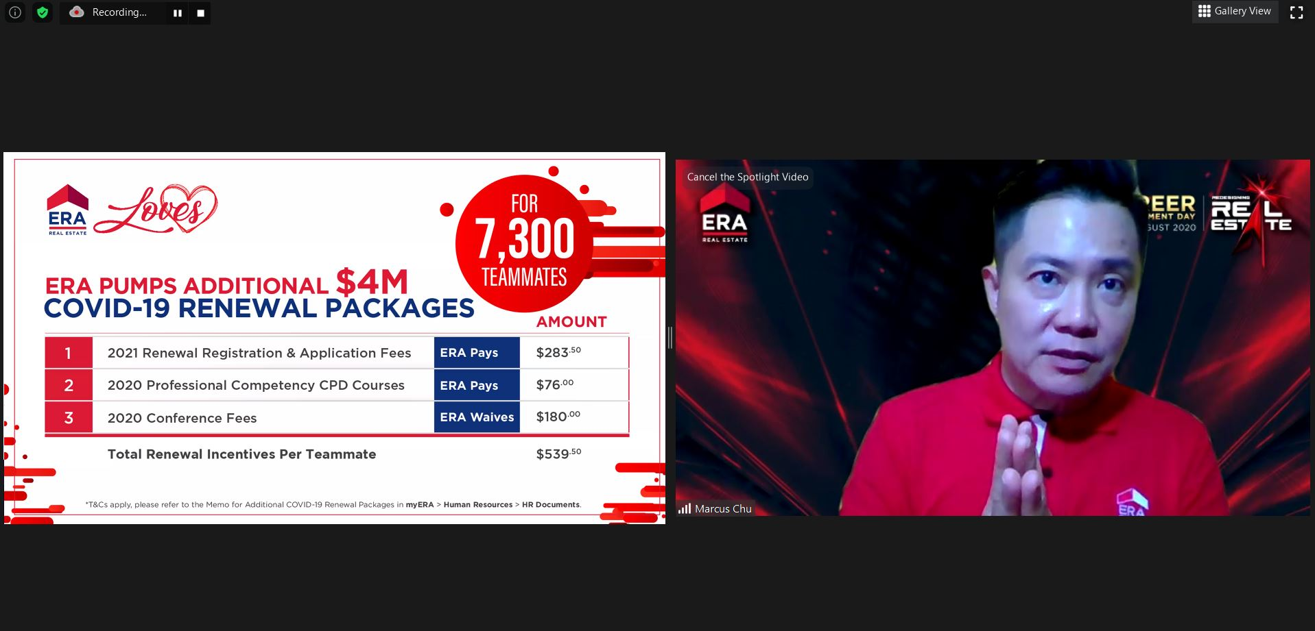 ERA Singapore Invests Additional S4 Million Renewal Packages to Help 7300 Real Estate Salespersons Beat Covid-19 Woes