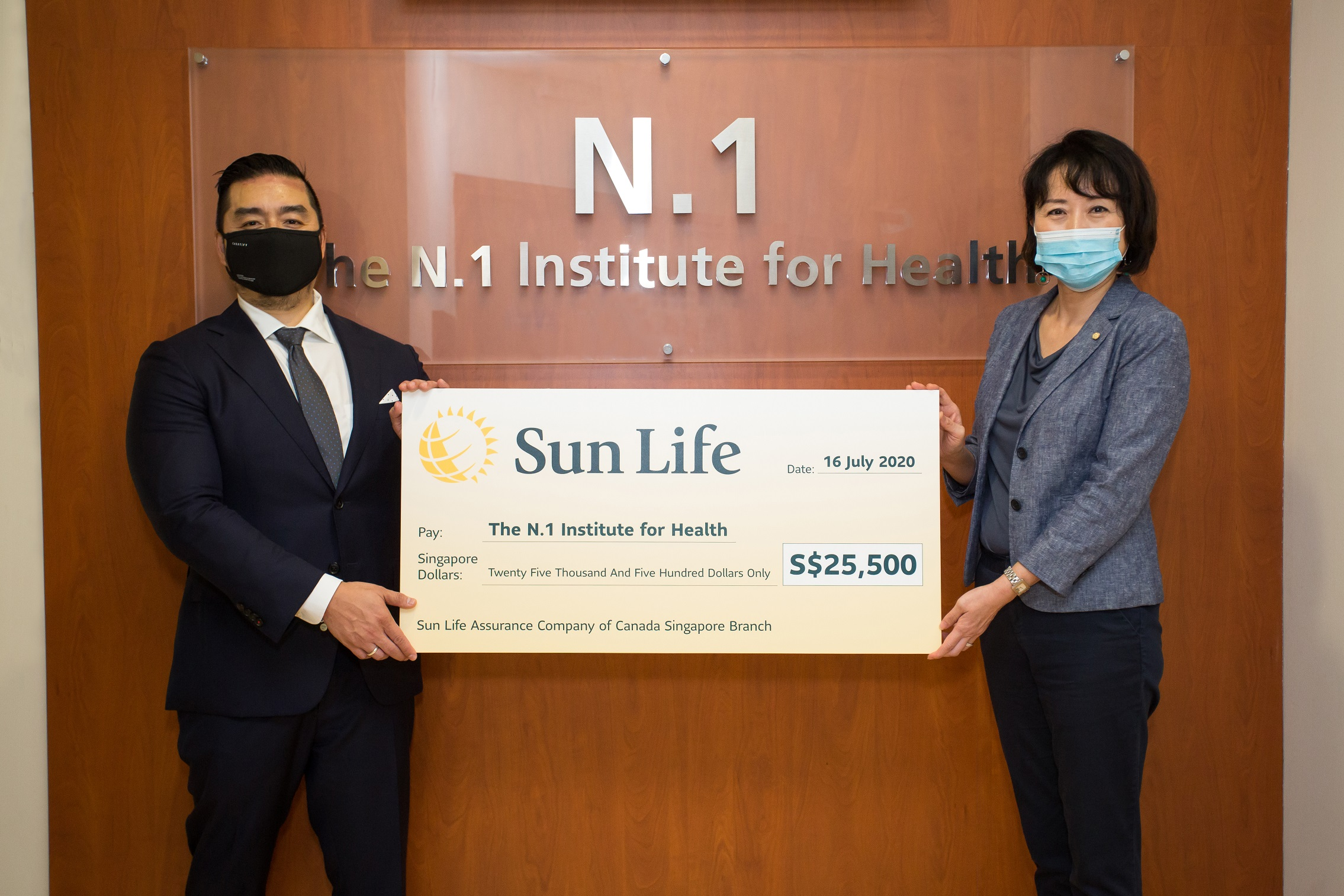 Sun Life Singapore Donates S25500 to Support N.1s AI Project
