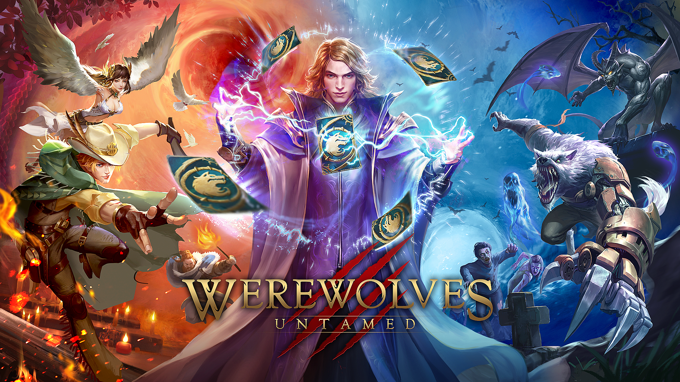 The First CCG Card Mobile Game with The Theme of Werewolf Killing Werewolves Untamed Officially Launched Today