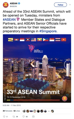 First-ever #ASEAN Summit to be livestreamed on Twitter, in collaboration with Singapore's Ministry of Foreign Affairs
