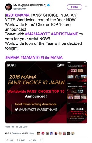 2018 MAMA drives global K-Pop conversation on Twitter with nearly 56