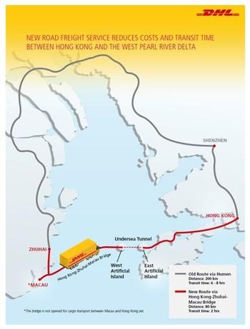 DHL Global Forwarding shaves up to 75% off transit times via Hong Kong-Zhuhai-Macau Bridge 1