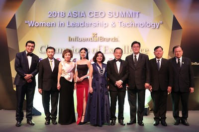 Nine Thai Companies Recognised as Outstanding Brands Winners At the Influential Brands® 2018 Ceo Asia Summit in Singapore