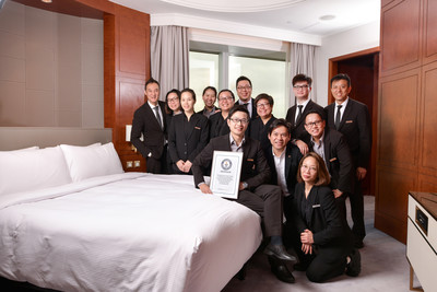 Cordis, Hong Kong Successfully Achieved a GUINNESS WORLD RECORDS™ Title for The Fastest Bed Making By An Individual (King Sized Bed)