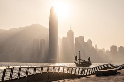 香港著名景点星光大道重开