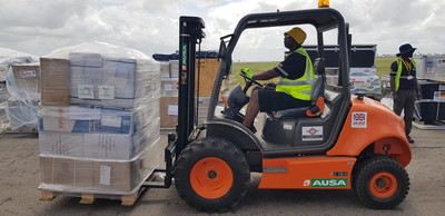 Deutsche Post DHL Group's Disaster Response Team ends first deployment in Africa having processed nearly 800 tonnes of cargo 1
