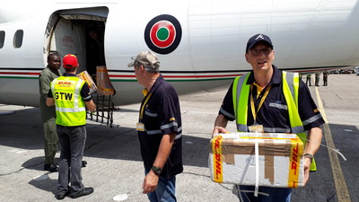 Deutsche Post DHL Group's Disaster Response Team ends first deployment in Africa having processed nearly 800 tonnes of cargo 2