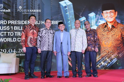 Indonesia 3rd President B.J. Habibie's US$1B superblock in Batam Attracts Global Investors with the Launch of Luxury Erleseen Tower 4