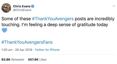 Avengers: Endgame is most Tweeted about movie ever  with more than 50 million Tweets since the start of the year 2