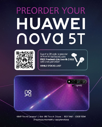 HUAWEI nova 5T Pre-Order Available Now