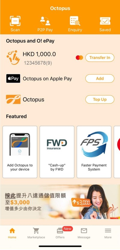 FWD's revolutionary Cash-up Insurance Plan makes saving easy through Octopus' O! ePay