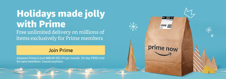 Amazon Kicks Off the Holiday Season via Prime Now, Offering Amazon Prime Members in Singapore Access to More than 50 Days of Deals