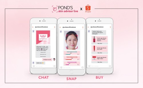 2021 skincare solutions just a click away with POND'S Skin Advisor Live chatbot now on Shopee