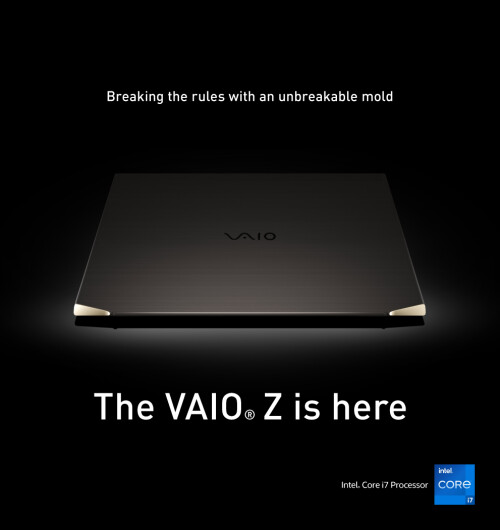 Japan's VAIO, a leader in innovative technology, unleashes the first 3-D molded, carbon fiber laptop in the world