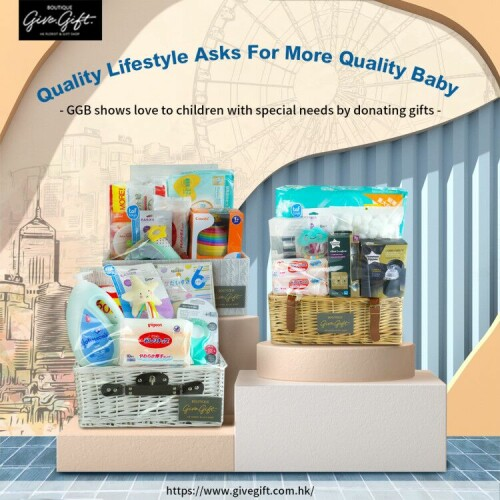 Quality lifestyle asks for more quality baby hampers - Give Gift Boutique helps children with special needs by supporting charitable activities