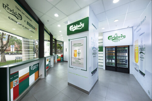 Check out the New-Look 7-Eleven x Carlsberg Crossover Themed Store in Discovery Bay
