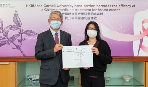 Hong Kong Baptist University and Cornell University jointly develop a novel nano-carrier that increases the efficacy of Chinese medicine treatment for breast cancer