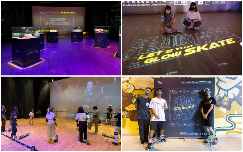 Youth Square's 'Let's Glow Skate!' exhibition attracted over a thousand participants to promote skateboarding culture with local skateboarding athletes