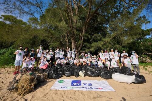 AXA安盛管理層率領員工清潔海灘 身體力行保護環境  合共清理257公斤海灘廢物