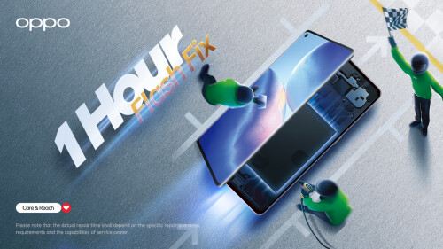 OPPO Further Strengthens Its 1 Hour Flash Fix Service