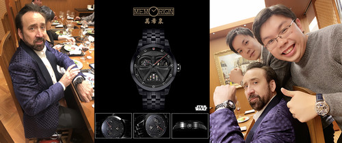 Mr. Nicolas Cage was impressed by Memorigin's Star Wars Series Tourbillon Watch
